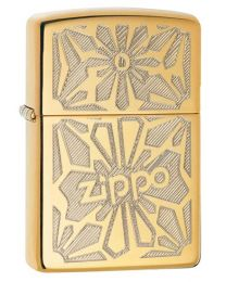 Zippo Ornament Zippo Lighter in Polished Brass 28450