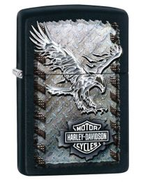 Harley Davidson Zippo Lighter - Iron Eagle (Matte Black)
