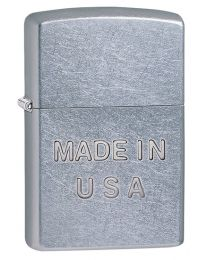Made In USA Zippo Lighter (Stamp) - Street Chrome 28491