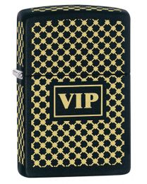 VIP Zippo Lighter in Matte Black 28531
