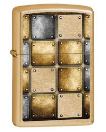 Gold Dust Zippo Lighter - Metal Design 28539