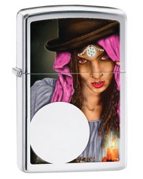 Fortune Teller Zippo Lighter in Polished Chrome 28656