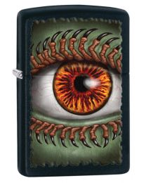 Monster Eye Zippo Lighter in Matte Black 28668