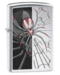Spider Zippo Lighter in High Polished Chrome 28795