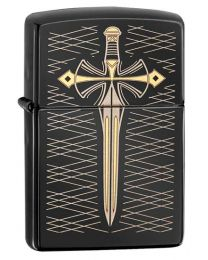 Dagger Zippo Lighter in Polished Ebony 28799