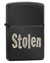 Stolen Zippo Lighter in Polished Ebony 28834