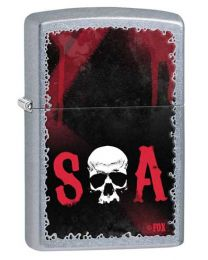 Sons of Anarchy Skull Zippo Lighter in Street Chrome 28836