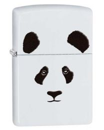 Panda Zippo Lighter in Matte White 28860