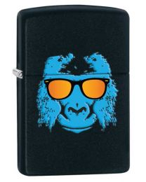 Ape with Shades Zippo Lighter in Matte Black 28861