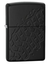 Armor Tyre Tread Zippo Lighter in Matte Black Armor 28966