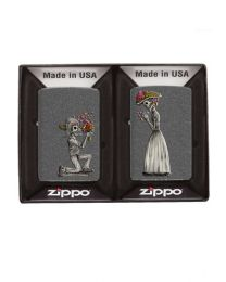 Day of the Dead Skulls - 2 x Zippo Lighter Set 28987