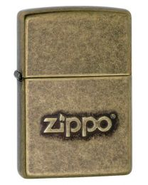 Zippo Stamp Zippo Lighter in Antique Brass 28994