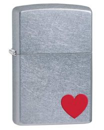 Love Zippo Lighter in Street Chrome 29060
