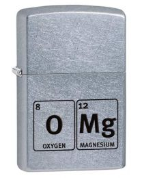 OMG Zippo Lighter, Chemical Elements in Street Chrome 29062