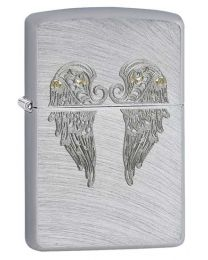Angel Wings Zippo Lighter in Chrome Arch 29069