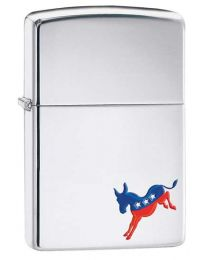 Democrat Zippo Lighter in Polished Chrome 29073