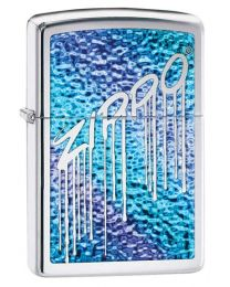 Fusion Liquid Design Zippo Lighter in Polished Chrome 29097