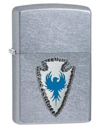 Arrowhead Emblem Zippo Lighter in Street Chrome 29101