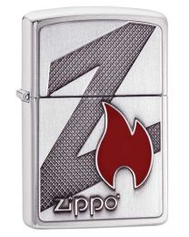 Z Flame Zippo Lighter in Brushed Chrome 29104