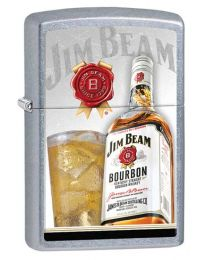 Jim Beam Glass and Bottle Zippo Lighter in Street Chrome 29124