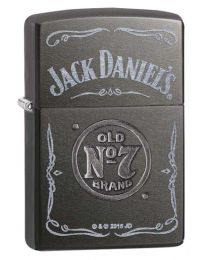 Jack Daniels Label Zippo Lighter in Gray Dusk 29150
