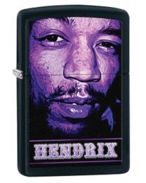 Jimi Hendrix Zippo Lighter in Matte Black 29168