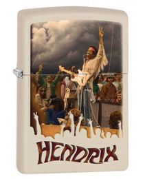 Jimi Hendrix Zippo Lighter in Matte Cream 29172