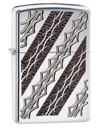 Armor Tattoo Elegance Zippo Lighter in Polished Chrome 29235