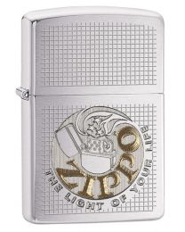 Light of Life Zippo Lighter in Brushed Chrome 29236