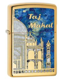 Taj Mahal Zippo Lighter in Polished Brass 29245