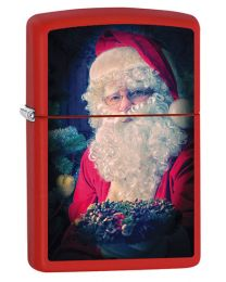 Santa Clause Zippo Lighter in Matte Red 60000841