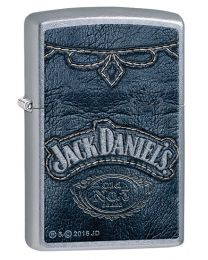 Jack Daniels Denim Print Zippo Lighter in Street Chrome 60002092