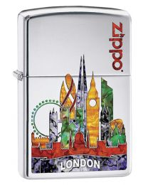 London Fusion Zippo Lighter in Polished Chrome 60002862