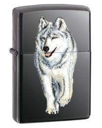 Wolf Black Ice Zippo Lighter